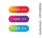 click here button set vector | Shutterstock .eps vector #1491188546