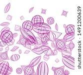 falling geometric figures.... | Shutterstock .eps vector #1491200639