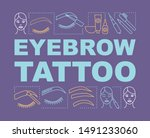 eyebrow tattoo word concepts...