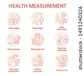 body measuring tools concept... | Shutterstock .eps vector #1491240326