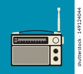 old analog radio | Shutterstock .eps vector #149124044