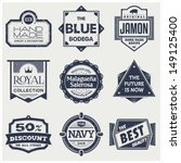 monochrome vintage labels   Shutterstock .eps vector #149125400