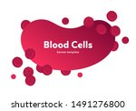 vector flat blood cell...