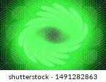 beautiful green abstract...   Shutterstock . vector #1491282863
