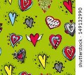 seamless pattern of heart  | Shutterstock . vector #149132990