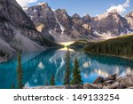 Постер, плакат: Moraine lake in Lake