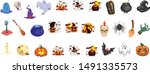 collection of halloween items...   Shutterstock .eps vector #1491335573