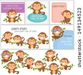 Monkeys And Friends Digital Set.