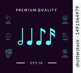 symbol of music  notes.... | Shutterstock .eps vector #1491364979