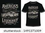 car t shirt design vector ... | Shutterstock .eps vector #1491371009