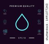 drop line icon. graphic... | Shutterstock .eps vector #1491377243