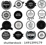 retro style promotional seals... | Shutterstock .eps vector #1491399179