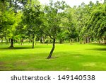 green trees in park | Shutterstock . vector #149140538