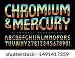Vector Font Alphabet. Chromium...