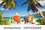 recreation at tropical beach  ... | Shutterstock . vector #1491426689