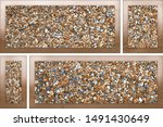 elevation stone with design and ...   Shutterstock . vector #1491430649
