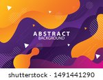 flat abstract memphis style... | Shutterstock .eps vector #1491441290