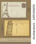 postcards. france. paris.