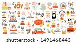 merry christmas or happy new...   Shutterstock .eps vector #1491468443