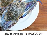 close up fresh blue crab. | Shutterstock . vector #149150789