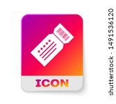 white ticket icon isolated on... | Shutterstock .eps vector #1491536120