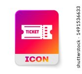 white ticket icon isolated on... | Shutterstock .eps vector #1491536633