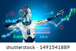 robot trader assistant on forex ... | Shutterstock .eps vector #1491541889