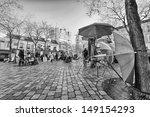paris   dec 3  place du tertre... | Shutterstock . vector #149154293
