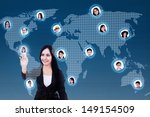 asian business woman with...   Shutterstock . vector #149154509