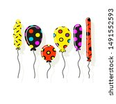 set of cute multicolored...   Shutterstock .eps vector #1491552593