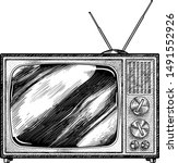 retro television illustration ... | Shutterstock .eps vector #1491552926