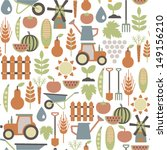 seamless pattern with... | Shutterstock .eps vector #149156210