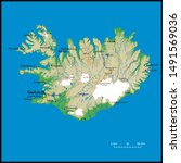 high detailed iceland physical... | Shutterstock .eps vector #1491569036