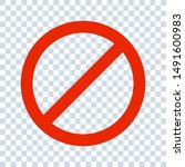 no sign isolated. red no symbol.... | Shutterstock .eps vector #1491600983