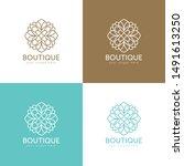 boutique logo. vector design... | Shutterstock .eps vector #1491613250
