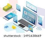 prompt poster service app for... | Shutterstock .eps vector #1491638669