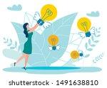 ideas in air metaphor flat... | Shutterstock .eps vector #1491638810