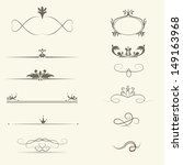 vector set  calligraphic design ... | Shutterstock .eps vector #149163968