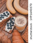 tasty croissants breakfast... | Shutterstock . vector #1491640370