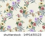 beautiful colorful summer...   Shutterstock . vector #1491650123
