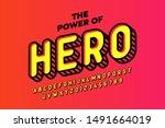 comics hero style font design ... | Shutterstock .eps vector #1491664019