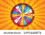 Stock vector realistic d spinning fortune wheel lucky roulette happy new year vector illustration 1491668876