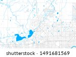 Rich detailed vector area map of St. Albert, Alberta, Canada. Map template for home decor.