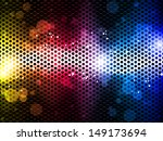 colorful rainbow neon party... | Shutterstock . vector #149173694