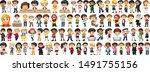 children with different... | Shutterstock .eps vector #1491755156