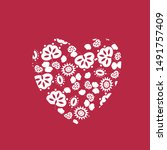 heart collection icon  love... | Shutterstock .eps vector #1491757409