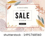 sale banner template design.... | Shutterstock .eps vector #1491768560