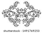 an art nouveau or italian... | Shutterstock . vector #1491769253