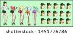 female character group pack... | Shutterstock .eps vector #1491776786