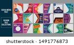fashion sale social media post...   Shutterstock .eps vector #1491776873